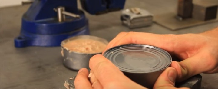 Bare-Handed Can Opener Trick