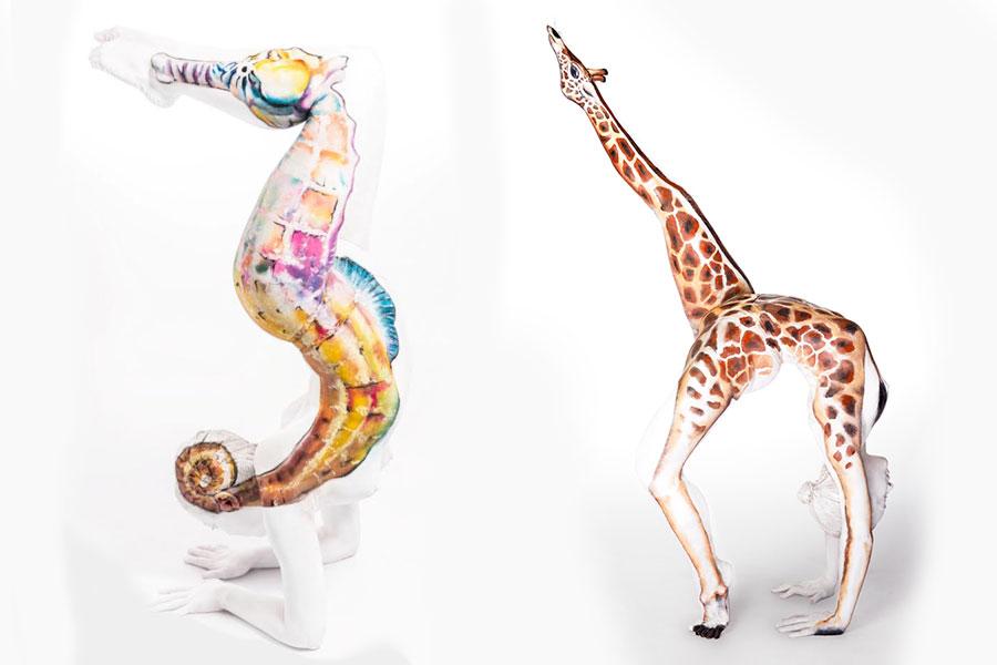 Body Art Giraffe Seahorse