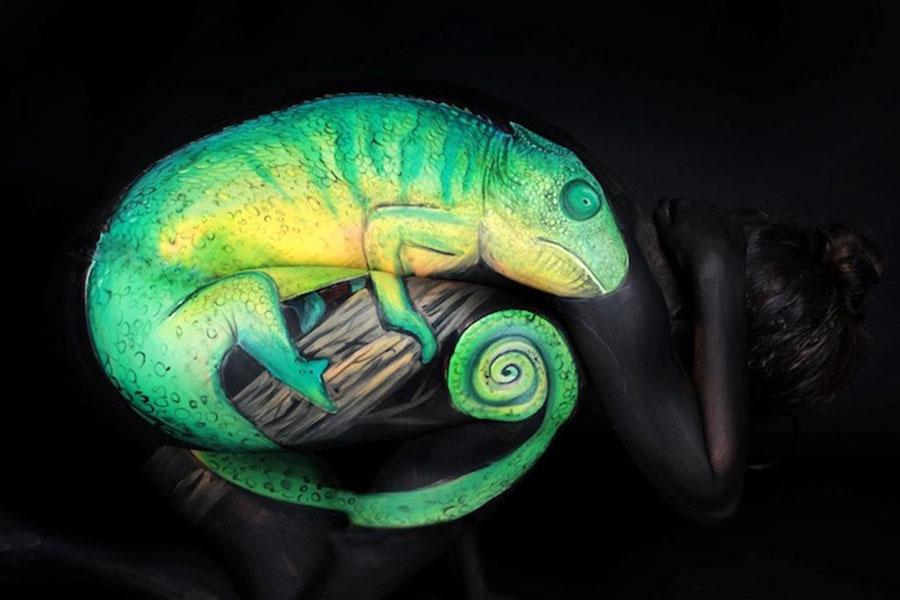 Body Art Chameleon