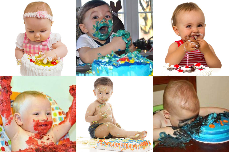 Baby Smash Cakes Gallery